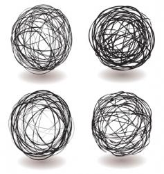 scribble ball icon vector image