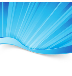 abstract blue light wave border background vector image vector image