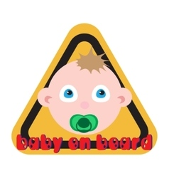 Baby on board sign yellow background vector image vector image