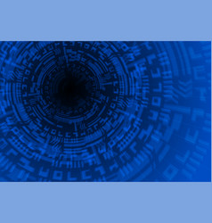 blue future technology background vector image vector image