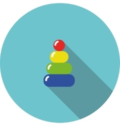 Children icon variegated toy pyramid vector