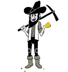 gold digger cartoon vector image vector image