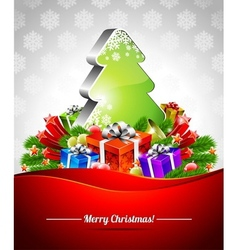 holiday on a christmas theme vector image vector image