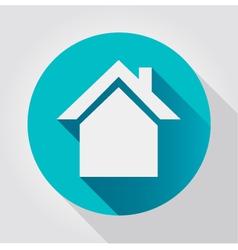 Home icon flat design vector image