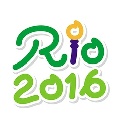 Logo symbol Brazil 2016 Rio de Janeiro for Olympic vector image