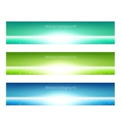 Set of banner vector image