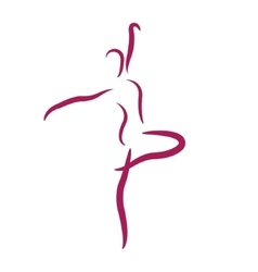 Sketched dancing woman vector image vector image