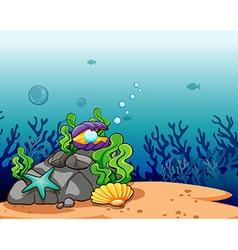 Underwater scene vector