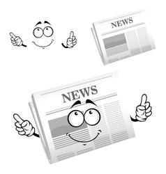 Cartoon weekly newspaper with header vector image