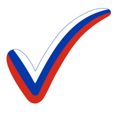check mark style russia flag elections voting vector image