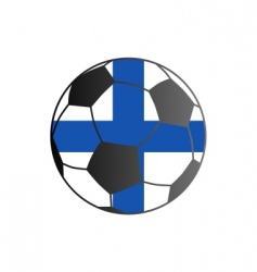 flag of Finland and soccer ball vector image vector image