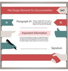 Flat Design Elements For Documentation Set1 vector image vector image