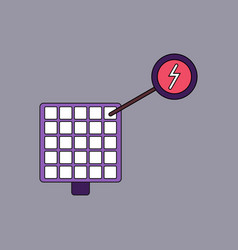Flat icon design collection solar panel and vector