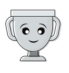 kawaii trophy design vector image