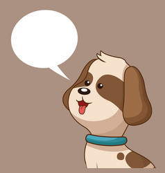 lovely doggy and bubble speech vector image