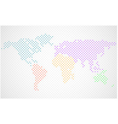 abstract world map of colorful dots vector image