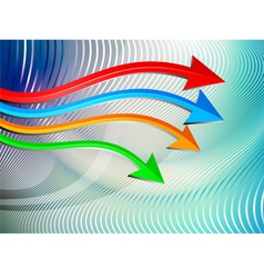 Arrows graph moving vector image