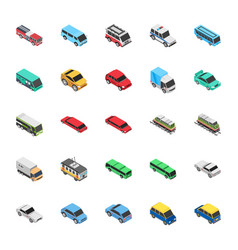 automobile flat icons vector image