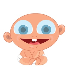 Baby happy vector