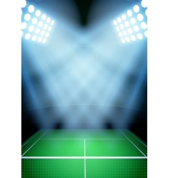 Background for posters night tennis stadium in the vector image