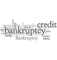 bankruptcy help advice vector image