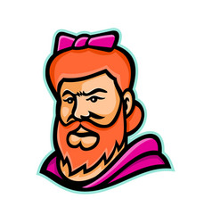 bearded lady mascot vector image