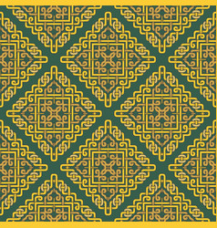 beautiful seamless pattern in celtic style vector image