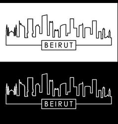 Beirut skyline linear style editable file vector