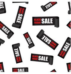 black friday sales tag seamless pattern vector image