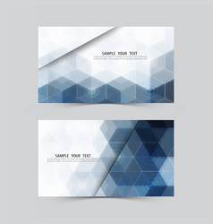 blue hexagonabstract backgroundset of banners vector image