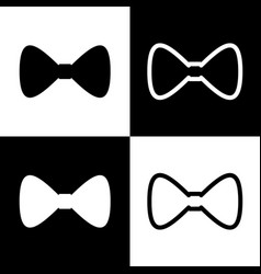 bow tie icon black and white icons and vector image