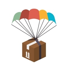 Box parachute delivery vector