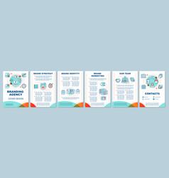 Branding agency brochure template layout vector