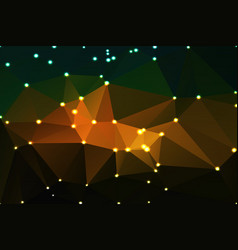 Brown orange green geometric background with vector