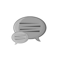Bubble speech icon black monochrome style vector