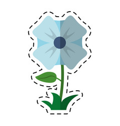 Cartoon flower romantic natural icon vector