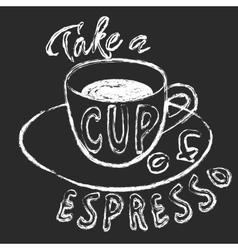 Chalk cup espresso vector