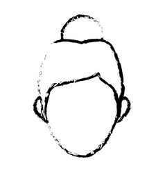Character woman head person image contour vector
