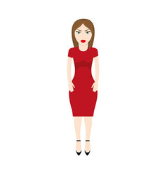 character woman style image vector image