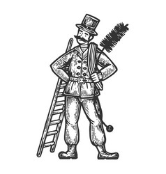 chimney sweep man vector image