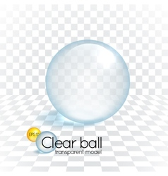 Clear glass transparency sphere vector image