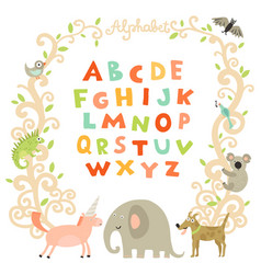 complete children alphabet vector image