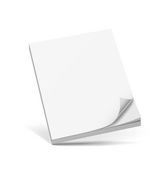 cover business white book isolated on white vector image