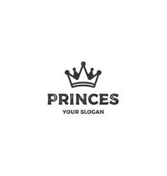Crown-princes-logo-template vector