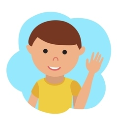 Drawing of icon little boy in the cloud vector