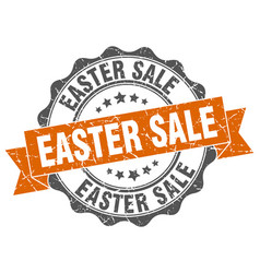 easter sale stamp sign seal vector image