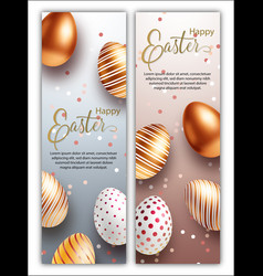 easter sale white black and rose gold posters or vector image