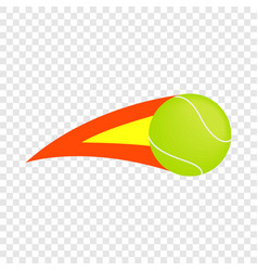 Flaming tennis ball isometric icon vector
