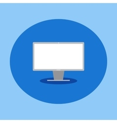 flat icon computer monitor vector image
