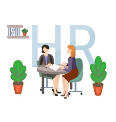 flat job search recruitment vector image